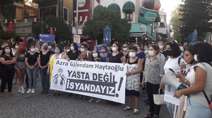 Antalya Kadın Platformu, katledilen Azra ve Emine için toplandı: Birbirimizden ve İstanbul Sözleşmesi'nden vazgeçmiyoruz